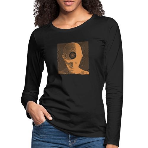 Free-Mind ShriYantra gold - Frauen Premium Langarmshirt