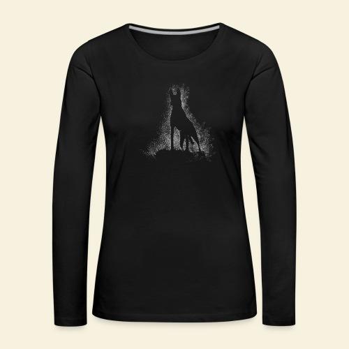 Dog Silhouette - Frauen Premium Langarmshirt