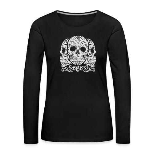 Skull Dia de los muertos - T-shirt manches longues Premium Femme