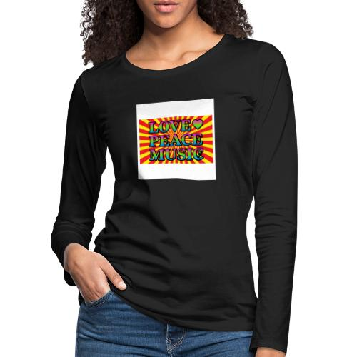 Love Peace Music - Women's Premium Longsleeve Shirt