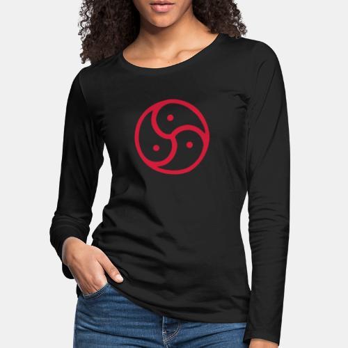 Triskelion / Triskele single-color - Frauen Premium Langarmshirt