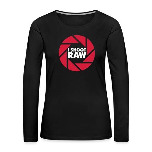 I shoot RAW - weiß - Frauen Premium Langarmshirt
