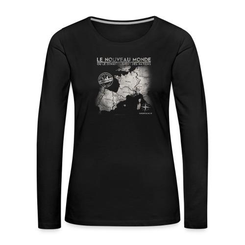 euroregions BLANC - T-shirt manches longues Premium Femme