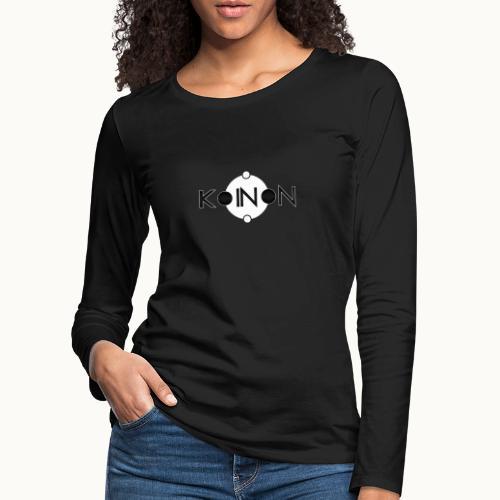 Koinòn Logo - Maglietta Premium a manica lunga da donna