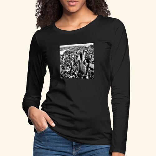 Manhattan in bianco e nero - Maglietta Premium a manica lunga da donna