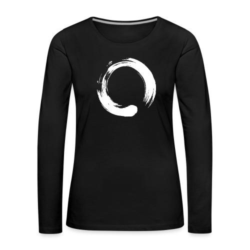 Enso Zen Symbol Buddhismus Kalligrafie Yoga Kreis - Frauen Premium Langarmshirt