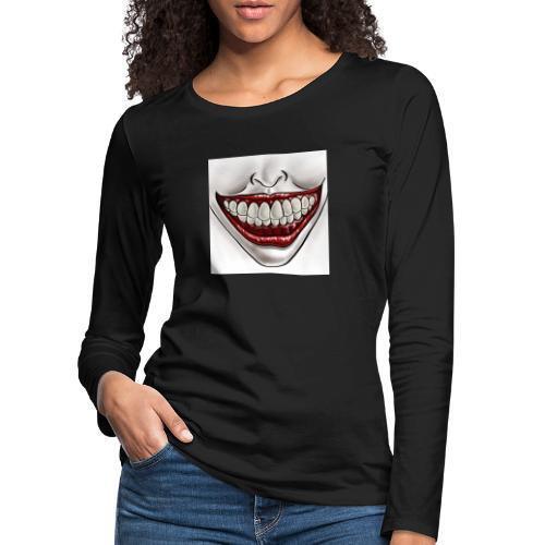 Smile Maske - Frauen Premium Langarmshirt