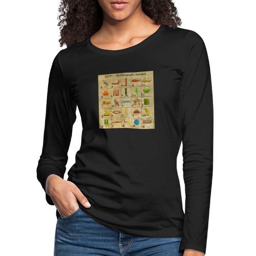 The Hieroglyphic Alphabet - Frauen Premium Langarmshirt