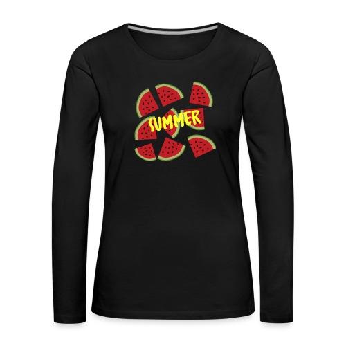 Sommer Sonne Wassermelone - Frauen Premium Langarmshirt