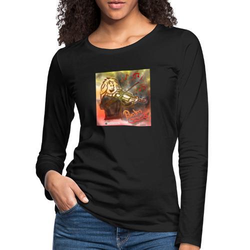 Design Geige Psalm 33 Vers 3 - auf Kleidung - Frauen Premium Langarmshirt