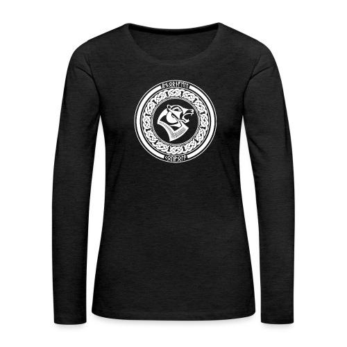 BjörnfellRisingWhite - Naisten premium pitkähihainen t-paita
