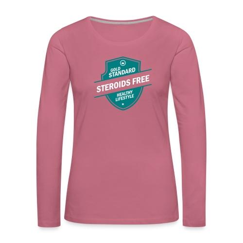 GoldStd-SteroidsFree-33 - Women's Premium Longsleeve Shirt