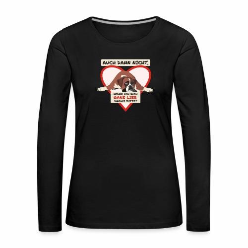 Hundeblick - Frauen Premium Langarmshirt