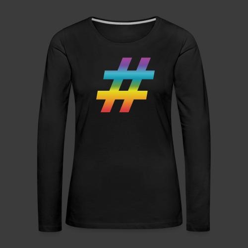 rainbow hash include - Women's Premium Longsleeve Shirt