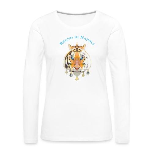 regno di napoli tigre - Maglietta Premium a manica lunga da donna