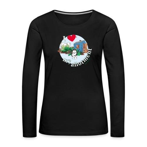 I 'love' my allotment - Women's Premium Longsleeve Shirt
