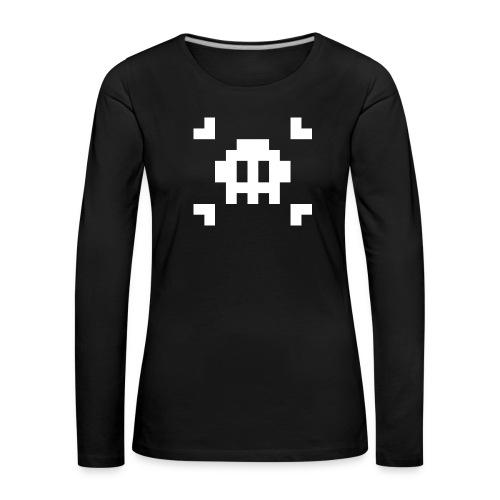 Pixel Skull - T-shirt manches longues Premium Femme