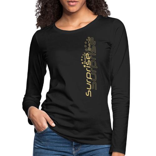 Logo Suprise Band mit Cut-Out - Frauen Premium Langarmshirt