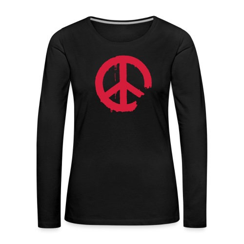 PEACE - Frauen Premium Langarmshirt