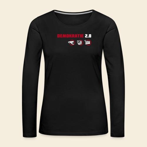 demokratie 20 dunkel - Frauen Premium Langarmshirt