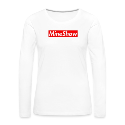 MineShow Box-Logo - Frauen Premium Langarmshirt