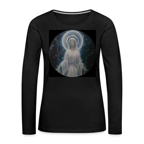 圣母玛利亚 Notre Dame by Jean Libon (Noir) - T-shirt manches longues Premium Femme