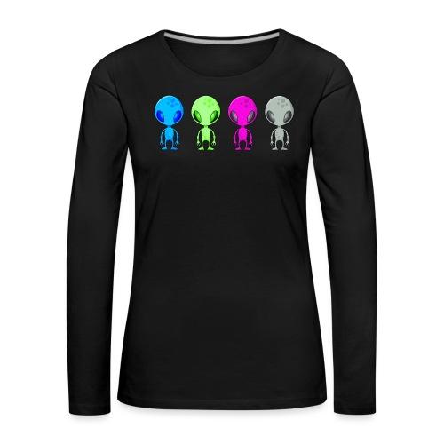 Multicolored Aliens - Women's Premium Longsleeve Shirt