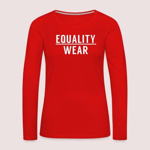 Equality Wear Official Pattern - Women's Premium Longsleeve Shirt