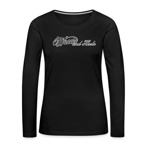 Tekstilogo - Naisten premium pitkähihainen t-paita