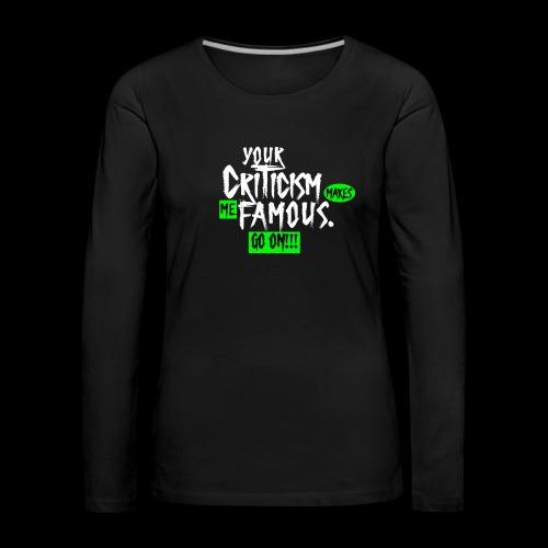 CRITICA 2 - Camiseta de manga larga premium mujer