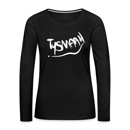 Logo blanc - TYSMAAH - T-shirt manches longues Premium Femme