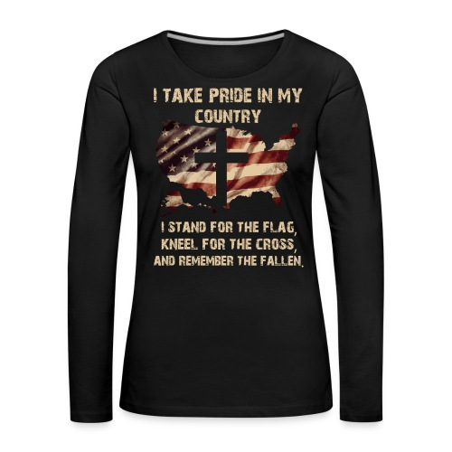 I take pride in my country - Women's Premium Longsleeve Shirt