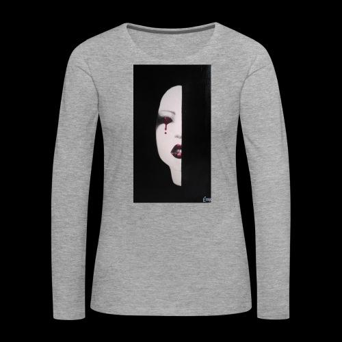 BlackWhitewoman - Maglietta Premium a manica lunga da donna