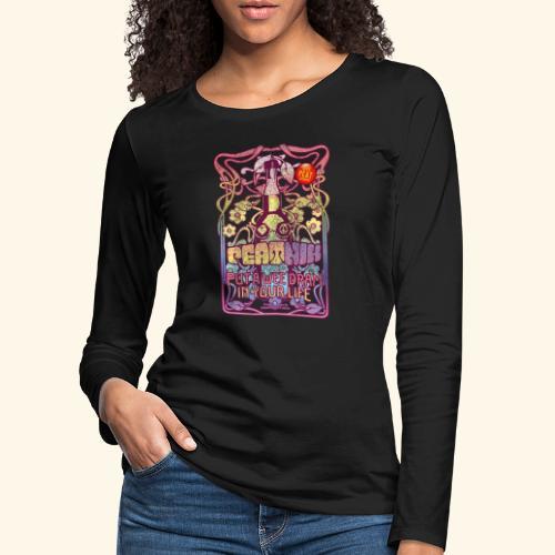 Whisky T Shirt Peatnik für Whiskykenner - Frauen Premium Langarmshirt