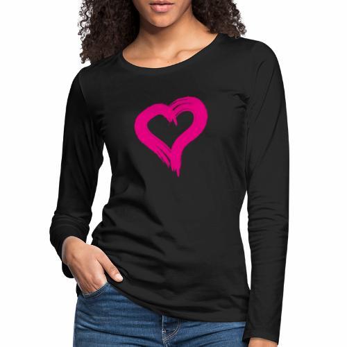 Pink Heart - Women's Premium Longsleeve Shirt