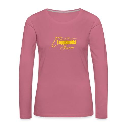 logo-kel - Naisten premium pitkähihainen t-paita