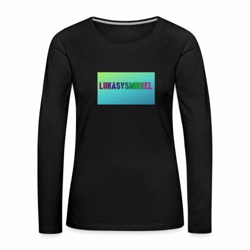 LukasvsMikkel banner - Dame premium T-shirt med lange ærmer
