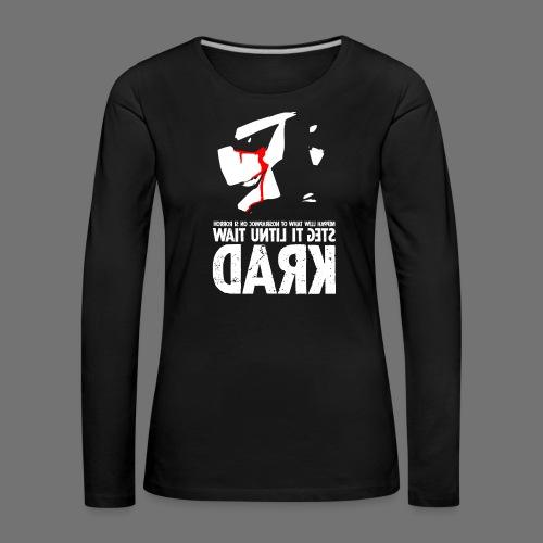 horrorcontest sixnineline - Dame premium T-shirt med lange ærmer