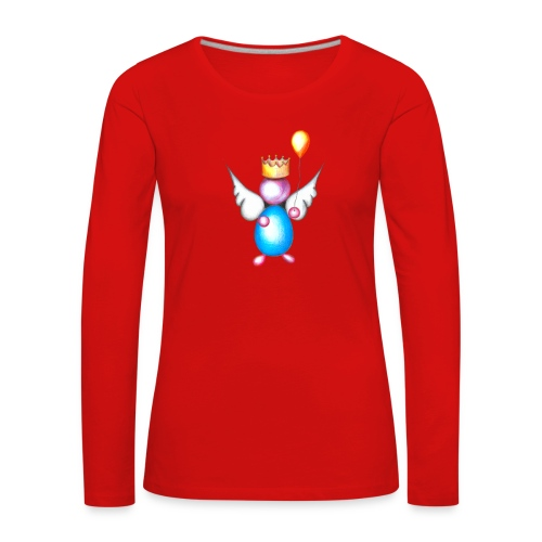 Mettalic Angel happiness - T-shirt manches longues Premium Femme