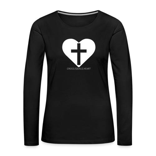 CEH_white.png - Långärmad premium-T-shirt dam