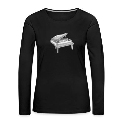Piano Art - T-shirt manches longues Premium Femme