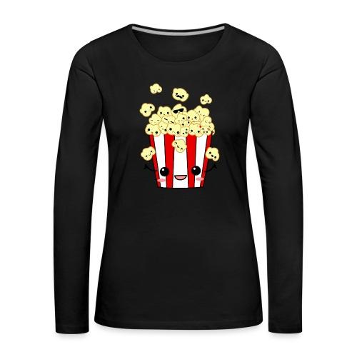 PopCorn - Camiseta de manga larga premium mujer