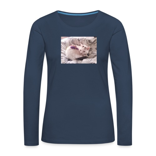 CAT SURROUNDED BY MICE AND BUTTERFLIES. - Women's Premium Longsleeve Shirt