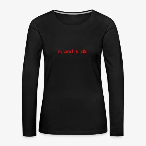 sog s1t l 1 - Dame premium T-shirt med lange ærmer