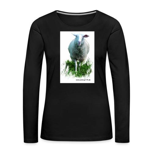 Gemaltes Entrup Schaf - Frauen Premium Langarmshirt