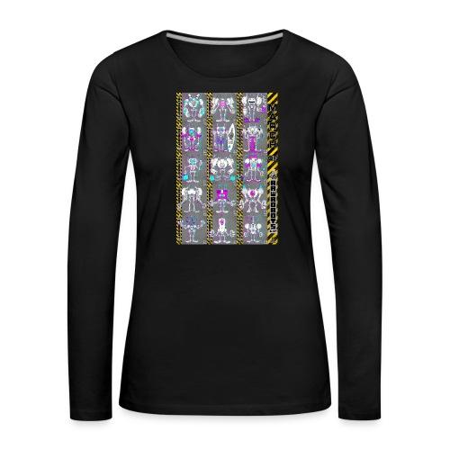 #MarchOfRobots ! NR 16-30 - Dame premium T-shirt med lange ærmer