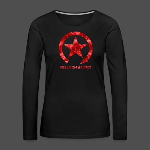 KILLSCHALTER Logo Roses - Koszulka damska Premium z długim rękawem