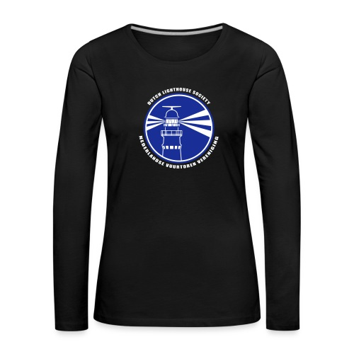 NVV Logo witte letters - Vrouwen Premium shirt met lange mouwen