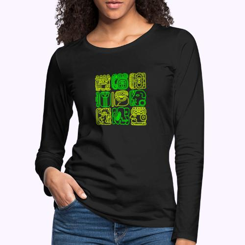Maya Bolontiku - Naisten premium pitkähihainen t-paita