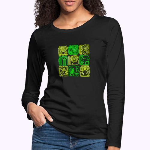 Mayan Bolontiku - Vrouwen Premium shirt met lange mouwen